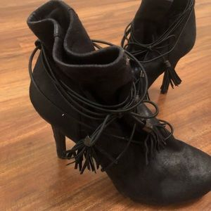 Black BCBG heeled bootie